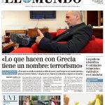Gol de El Mundo. @IreneHVelasco entrevista a @yanisvaroufakis Hace días, @fcarrionmolina a presi Egipto. Diario vivo. http://t.co/NZFz59Lleu