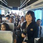 [PHOTO] Peserta OFC beserta member JKT48 sedang berangkat menuju Cimory Land #jkt48ofc2cimory http://t.co/k2mbZLl5pd