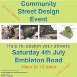 TODAY: #Southmead #embletonRd workshop to redesign streets for people. All are welcome! #Bristol http://t.co/vwNGdssyN1