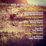 Uitzenduren en gasten eerste vier dagen #vivelevelo op @een RT maakt kans op boek Vive le vélo! XL http://t.co/kYV79La1Fh