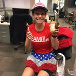 Fueling up before rocking the Runner-Cam @kaitlynross1 #ajcprr http://t.co/Gz2nvklFQ1
