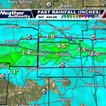 New rainfall (last 6 hrs) has prompted new Flash Flood Warnings. More Info at http://t.co/azDuFfOXkM. #mswx http://t.co/kJuQnobWgp