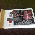 Sorteo solidario de un trozo del telón de Extremoduro firmado Por 1€ en Promusica, Metabar, Librería San Francisco... http://t.co/WbocXaSdpX