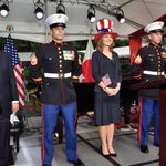 Photo of the day: @CarolineKennedy in the best #FourthofJuly hat ever. Via @patrickgaspard: http://t.co/UDkYQTA73d