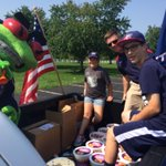 All set for the 4th of July parade in New Albany! Dont miss one of our #CBJ pucks! http://t.co/wFlqBzZIu4