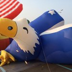 What says #4thofJuly like a giant inflatable eagle? Were live on @KMOV talking @FairSaintLouis @VPParade. http://t.co/s07bVGDN8m