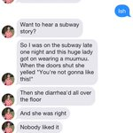 Want to hear a subway story?... http://t.co/prNZqnLXYv