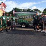 Happy 4th! 49ers celebrating at the Harrisburg Parade! Get ready for some football! #stateofcharlotte #FBS http://t.co/gP7uHJfml6