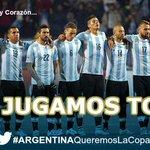 HOY A LAS 17 HS Jugamos TODOS #ArgentinaQueremosLaCopa !! @cuervotinelli @luciano_eltirri @connieansaldi @ronensuarc http://t.co/EfsD4zWlzF