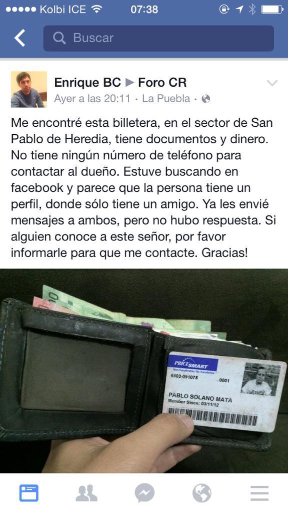 Otro buen samaritano. Por favor RT para encontrar al dueño. http://t.co/UTVVWd2rmh