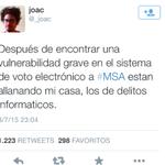 Allanaron al especialista que denunció fallas en el sistema de voto electrónico @_joac #MSA http://t.co/GX6usgl80E http://t.co/TMoBwUwfoB