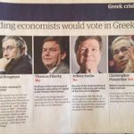 Male economists undecided about the #Greferendum; female economists in favour of yes. #greece http://t.co/4gLxoKzW08