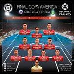 ¡Formación de #LaRoja para la gran #FinalCA2015! #VamosChile #YoConfío http://t.co/mHQdEbq8UL