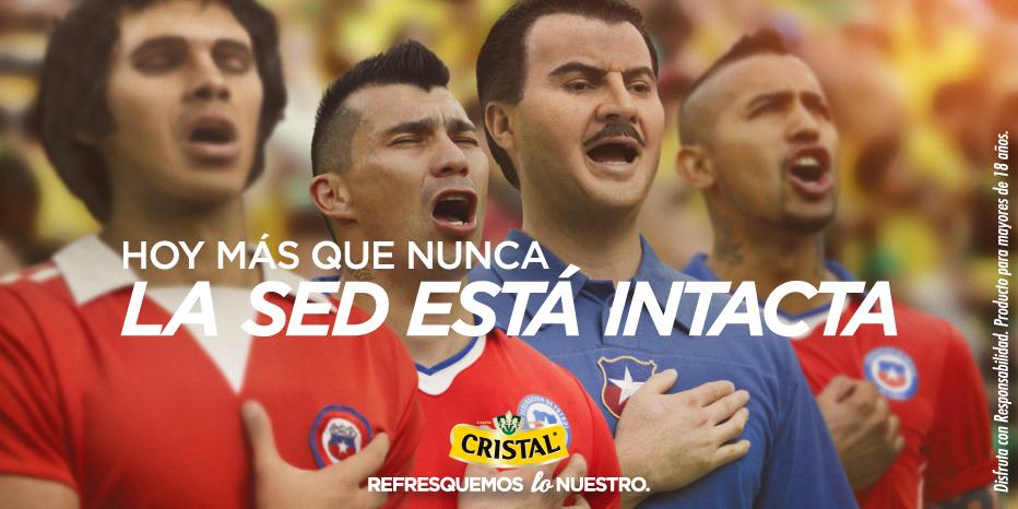 Estén donde estén, sabemos que hay chilenos que estarían orgullosos de este día. Hoy más que nunca #LaSedEstaIntacta http://t.co/NknagCbfNe