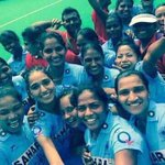 We are going to Rio Olympics. Thanks for Indian Hockey fans, Love you. Woman going to Olympics after 36 years. http://t.co/L2HGzKcZVR