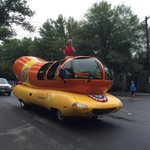 The @Wienermobile is at Palisades July Fourth Parade in Washington DC http://t.co/pFuFc6wDg8