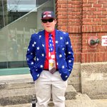 This guy knows how to celebrate the #4thofJuly at Fenway! Tix still available for todays game at Gate E. http://t.co/2ilycAoANp