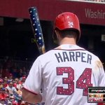 Bryce Harper hits 4th of July home run with patriotic bat, for America http://t.co/pyxjQ2pGsG http://t.co/X4QLdT7KCx