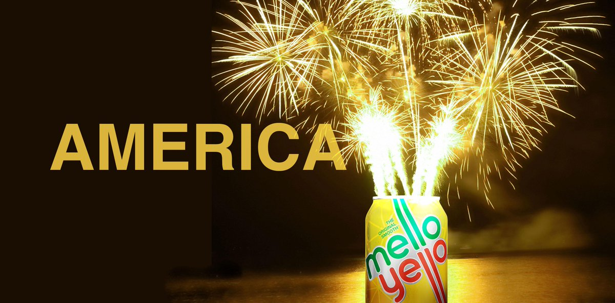 Legend has it if you hold your ear to a can of Mello Yello being opened today, you'll hear tiny fireworks going off. http://t.co/kNjO6EGXuz