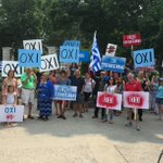 From London, Ontario to #Greece: solidarity with the Greek people; #OXI to blackmail and austerity. http://t.co/Bfp2IXAm2F