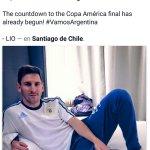 En la cuenta regresiva a la final, esto publicaba Messi en su Facebook. Vamos #Argentina!! #VamosXlaCopa http://t.co/ZwtjmyyCHI
