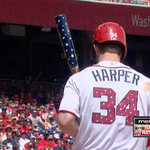 The fuse for Bryce Harper today... MERICA! #SlayTheGiants http://t.co/Gn1VWT9AAN