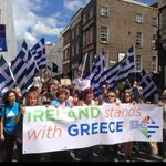 This sudden European-wide outpouring of solidarity w/ #Greece is truly amazing. Dublin today: #OXI! @ronanburtenshaw http://t.co/zqtOmFGYJv