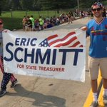 Great day at OFallon 4th of July parade. Sophia did great & is a parade veteran. Walked with my friend @VoteJW http://t.co/BeO2VF6Cxk
