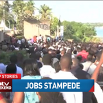 Coming up on #WeekendEdition: Thousands chasing tens of jobs at ports authority with near fatal results. http://t.co/r8HKQrSrey