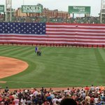 Fenway, the Flag and the 4th of July looking very good together today. Have a safe, happy healthy one everybody! http://t.co/8zC8JxXmbW