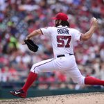 The line on Tanner Roark today: 4.1 IP, 5 H, 2 ER, 0 BB, 3 K -- 61 pitches, 43 strikes. Yeomans work in relief! http://t.co/HMc3wQGEsF