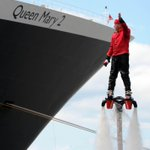 Rocket man salutes the Queen Mary 2 @LivEchonews @RMSQueenMary2 #rocketman #QM2 http://t.co/yPYj2mET1w