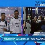 #CopaAméricaTyC #ARG llega al Estadio Nacional para jugar la #FinalCA2015 http://t.co/IYX53lwZp8