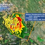Very intense severe t-storm just north of Greeley moving SE. #COwx @CBSDenver http://t.co/8DaFQEQw6r