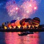 Fireworks and air balloons, Belfast. @paulmoane @newslineweather @WeatherCee @barrabest @tallships2015 @VisitBelfast http://t.co/KIAIGrOOhw