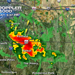 Strong t-storm over south @AuroraGov & #Parker w/small hail & heavy rain. Moving SE. #COwx @CBSDenver @850KOA http://t.co/i5hdTek2H0