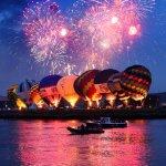Fabulous photo of the fireworks and hot air balloons by @paulmoane! Love it! #tallshipsbelfast http://t.co/5yR0izjFE2
