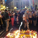 #Barcelona again in solidarity with #Greece #OXI #Greferendum. Now phone call from Athens. http://t.co/QkClkYrdJJ