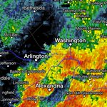 The worst of the rain is over in NW and Arlington, light showers will move in behind the main line. http://t.co/8DQwgsAPXt