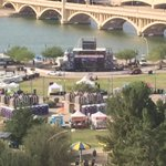 Gates are open to Tempe Beach Park. Lots of excited people ready to watch a great show. http://t.co/uvqv7QNmb7