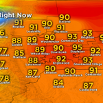 Hot for some, rain cooled for others. A variety of temps around #Colorado in the 3p hour #COwx http://t.co/Lr2b5dtDEq