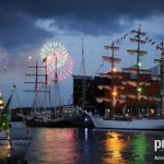 Crowds turn out for fireworks on the final night of the 2015 Belfast Tall Ships Race at @BelfastHarbour http://t.co/vH7dmd5ZYl