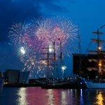 Great pic of #TallShips fireworks from @Kscott_94 http://t.co/7k427nEbCd