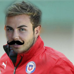 Newly registered revelation Mário Gocce warming up for Chile http://t.co/WJPXWK57aw