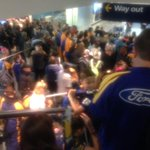 Fans gather at Dunedin Airport ahead of the arrival of the victorious @Highlanders http://t.co/MBH3CNy5iJ