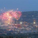 Here are some photos of the #tallshipsbelfast fireworks Ive taken an hour ago from Belfast Hills! #tallships2015 http://t.co/4yV18YuEGn