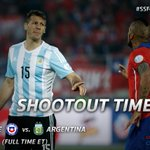 #Chile2015 - No goals after 120 minutes of tense football as the final heads to penalties. #SSFootball http://t.co/fZs1KUpzvF
