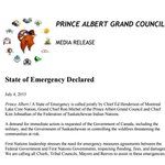 Montreal Lake Cree Nation, P.A. Grand Council & FSIN calling a state of emergency #cbcsk #skfire #YXE #YQR http://t.co/TH8DHgjsue