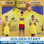 Aussie Rohan Dennis wins the Tour De France opening stage time trial in The Netherlands. #9News http://t.co/deeno0ftmp