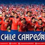 ¡Felicitaciones #Chile! Campeón de América por primera vez en la historia #Chile2015 http://t.co/QJ813mw2bd http://t.co/mrtWUGZenX